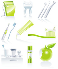 Vector dental icon set