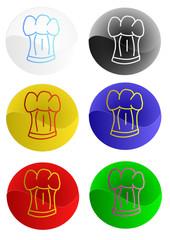Logos de coiffes de chef cuisiner