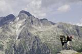 Trekking-Tour in den Alpen poster