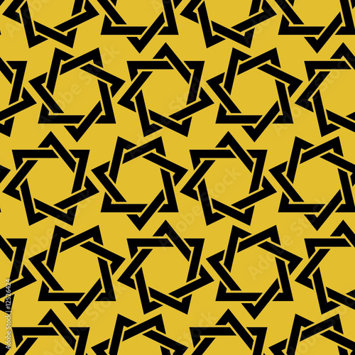 heptagrams - seamless pattern