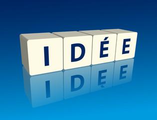 """"""" idée """" (Arrangement de cubes avec reflet)"""