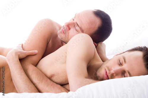 Sleeping 2 men