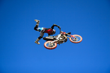extreme jump in motocross