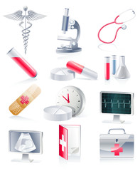Medical equipment icon set