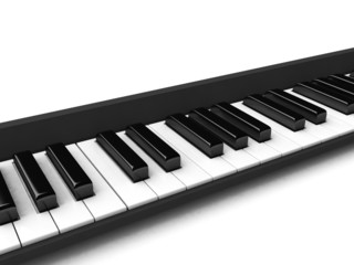 three dimensional black and white casio keys