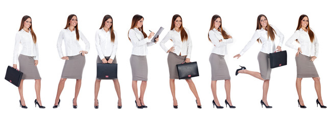 businesswoman in multiply pose