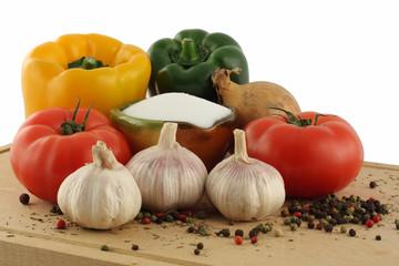 Vegetables as soup ingredients