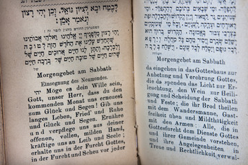 German and Hebrew Prayerbook