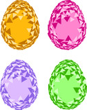 Triangular Easter eggs poster