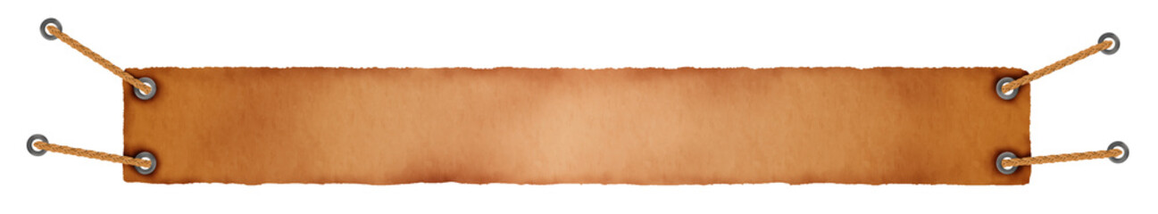 Background in orange and brown with ropes on corners