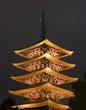 pagoda in sensoji in asakusa, tokyo, japan