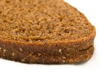 Macro a slice of rye bread