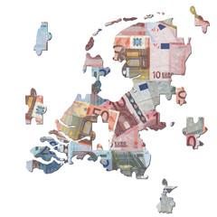 Dutch euros Map jigsaw