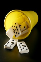 Domino game business metaphor