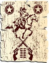 wild west poster - vector
