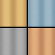 Four Metallic Backgrounds