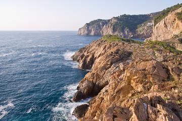 beautiful wild costline of Costa Brava, Spain