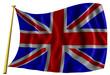 Bandera de Inglaterra ondeante