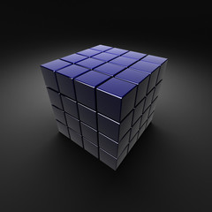 dark blue sectional cube