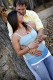Young Happy Smiling Attractive Interracial Couple Outdoors