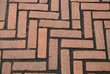 Texture of Brick Pavement