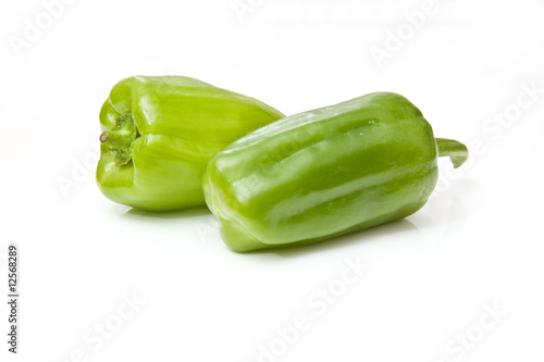 Dolma peppers  isolated on a white studio background.