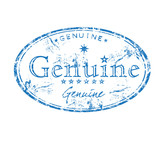 Genuine rubber stamp poster