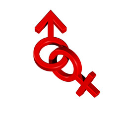 Red linked sex symbols.