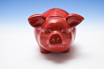 Piggy bank style money box.