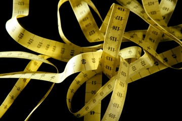 tape meter in yellow color