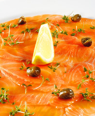 Salmon Carpaccio with Lemon