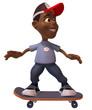 Adolescent en skateboard