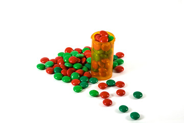 Medicine Bottle filled with Candy