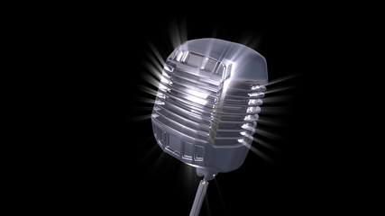 Highly Detailed 3d Microphone