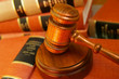 Judges gavel on a pile of law books