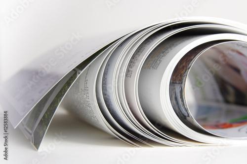 Leinwanddruck Bild pages de magazine