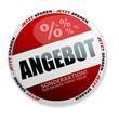 rundes rotes angebot symbol für online shops