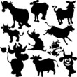 cow illustration vector silhouettes