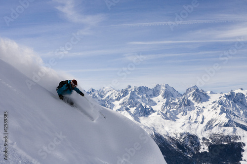 Foto op Aluminium Wintersporten ski freeride