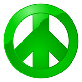 Glossy peace sign poster