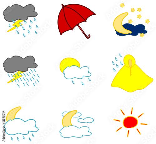 Wetter symbole set 3