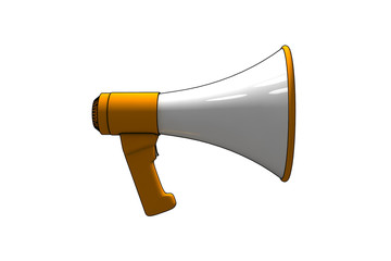 megaphone - 3d isolated illustration on white