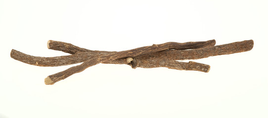 Liquorice sticks isolated