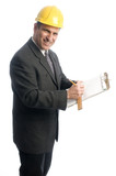 excited contractor architect designer lawyer  builder clipboard poster