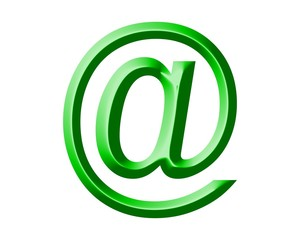 Arobase AT email symbol illustration