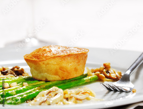 Fresh Asparagus with Cake