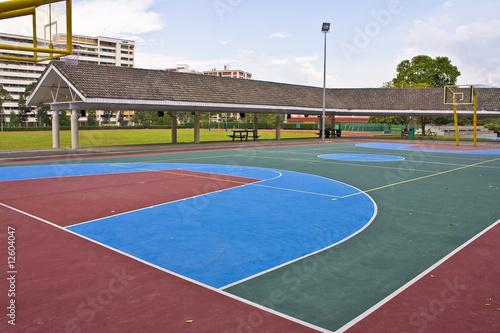 Fotobehang Singapore basket ball court