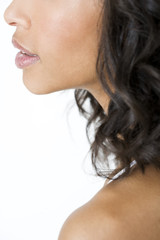 Profile of an attractive young woman