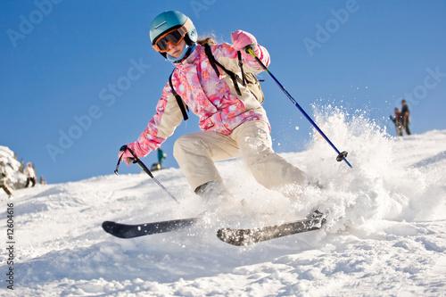Descente ski enfant - 12604616