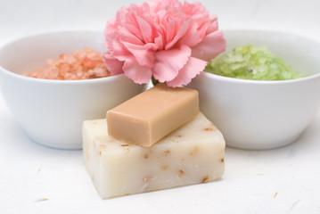 Skin care, natural handmade soaps.